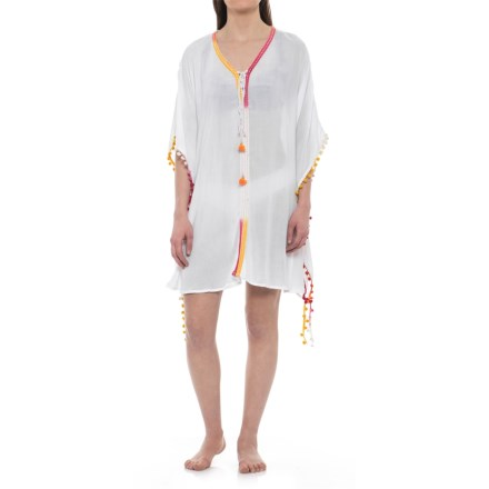 b5a018216e2 Violet Sky Beach Cover-Up Dress - Short Sleeve (For Women) in White