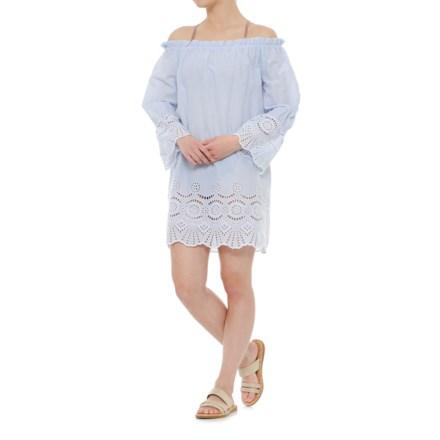 5b1ed088ef Violet Sky Eyelet Beach Swimsuit Cover-Up Dress - Short Sleeve (For Women)