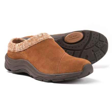 Vionic Action Arbor Clogs - Suede, Sweater-Knit Collar (For Women) in Saddle - Closeouts