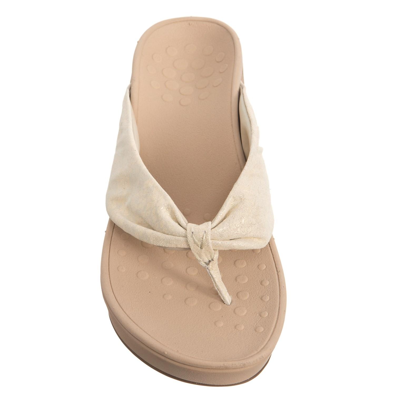 f90d18143 Vionic Arabella Wedge Thong Sandals (For Women) - Save 24%