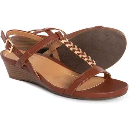 Vionic Cali H-Band Wedge Sandals - Leather (For Women) in Rust
