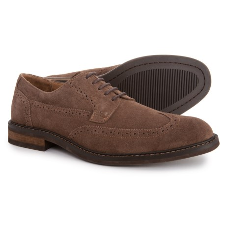 14350790579d Vionic Orthaheel Bruno Oxford Shoes with Arch Support - Suede (For Men) in  Dark