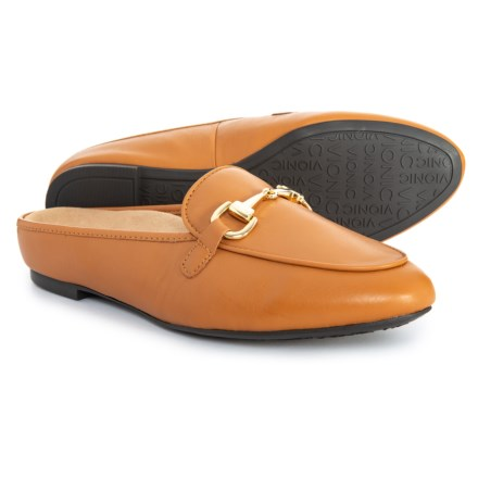 ec9456d4aba7 Vionic Orthaheel Technology Adeline Mule Shoes - Leather (For Women) in  Carmel