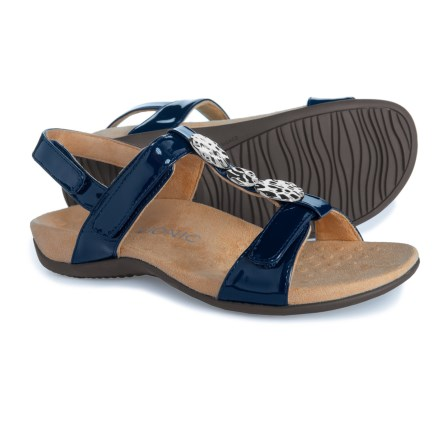 e3af1c0e39f4 Vionic Orthaheel Technology Farra Comfort Sandal with Arch Support (For  Women) in Navy Patent