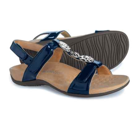 14c424d78c6 Vionic Orthaheel Technology Farra Comfort Sandal with Arch Support (For  Women) in Navy Patent