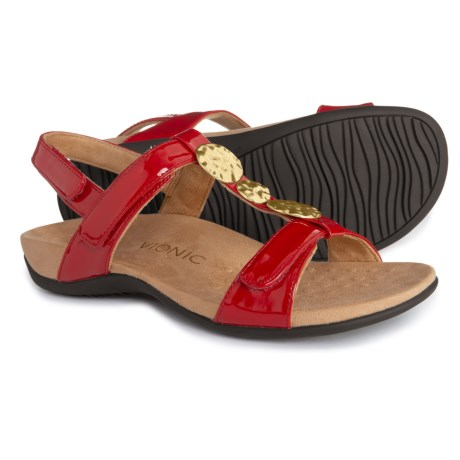aae581537b14 Vionic Orthaheel Technology Farra Comfort Sandal with Arch Support (For  Women) in Red Patent