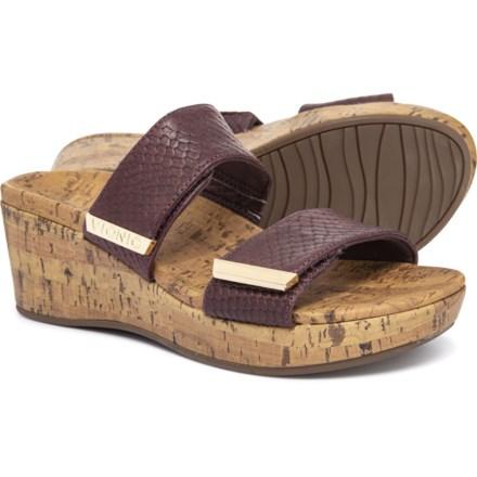 8c447cf73e2f Vionic Orthaheel Technology Pepper Wedge Sandals (For Women) in Merlot Snake