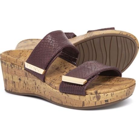 24d15a2791f1 Vionic Orthaheel Technology Pepper Wedge Sandals (For Women) in Merlot Snake