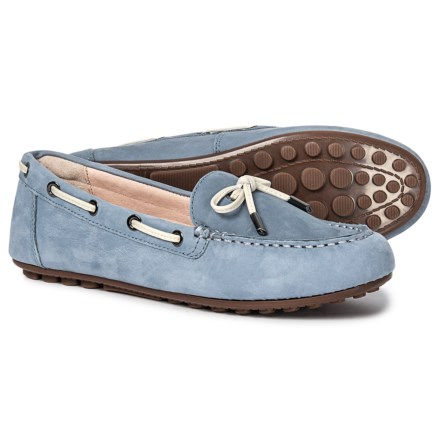 6e7a9eb47f58 Vionic Orthaheel Technology Virginia Driving Moccasins - Nubuck (For Women)  in Light Blue
