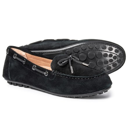 e763dd6374a Vionic Orthoheel Technology Virginia Driving Moccasins - Suede (For Women)  in Black