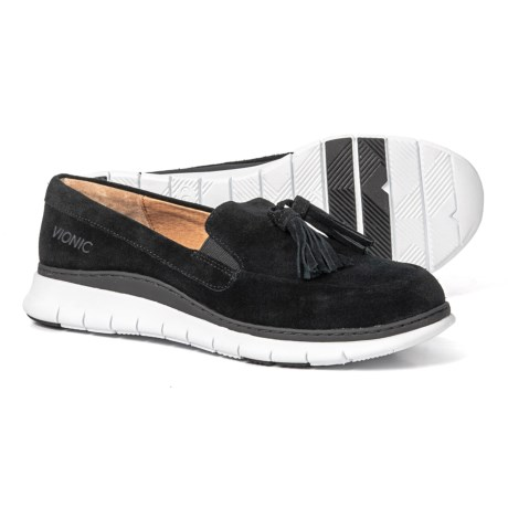 9b5c8ff4fba Vionic Quinn Loafers - Suede (For Women) in Black