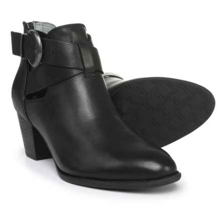 Vionic Rory Waxed Leather Booties (For Women) in Black - Closeouts