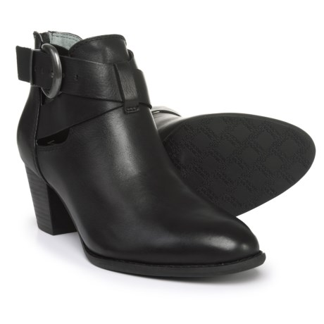 Vionic Rory Waxed Leather Booties (For Women) in Black