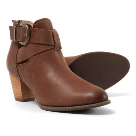 Vionic Rory Waxed Leather Booties (For Women) in Dark Brown - Closeouts
