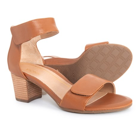 5165c734ac41 Vionic Solana Heeled Sandals - Leather (For Women) in Saddle