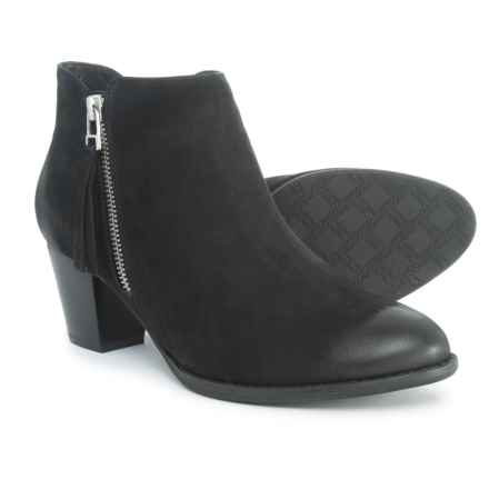 Vionic Upright Sterling Ankle Boot - Suede (For Women) in Black - Closeouts