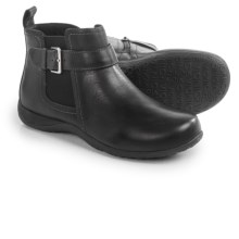 Vionic with Orthaheel Technology Adrie Ankle Boots - Leather, Side Zip (For Women) in Black - Closeouts