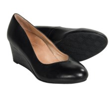 Vionic with Orthaheel Technology Antonia Wedge Pumps - Suede (For Women) in Black - Closeouts