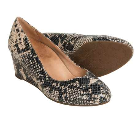 Vionic with Orthaheel Technology Antonia Wedge Pumps - Suede (For Women) in Natural Snake - Closeouts