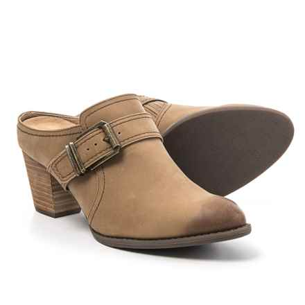 Vionic with Orthaheel Technology Cheyenne Clogs - Leather (For Women) in Brown - Closeouts