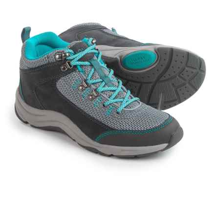 Vionic with Orthaheel Technology Cypress Trail Walker Sneakers (For Women) in Grey/Teal - Closeouts