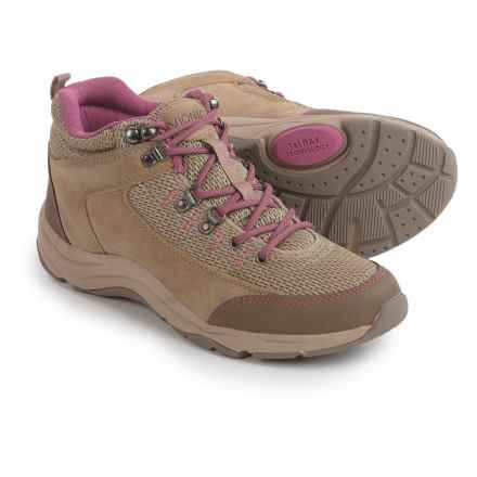 Vionic with Orthaheel Technology Cypress Trail Walker Sneakers (For Women) in Taupe/Pink - Closeouts