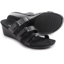 Vionic with Orthaheel Technology Dwyn Sandals - Wedge Heel (For Women) in Black - Closeouts