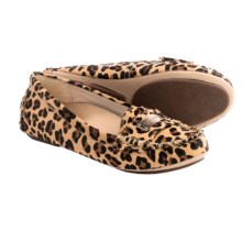 Vionic with Orthaheel Technology Ease Sydney Shoes - Leather (For Women) in Tan Leopard - Closeouts