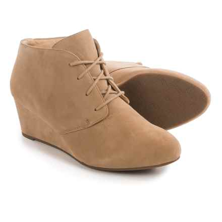 Vionic with Orthaheel Technology Elevated Becca Boots - Suede (For Women) in Light Tan - Closeouts