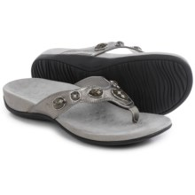 Vionic with Orthaheel Technology Eve II Flip-Flops (For Women) in Pewter - Closeouts