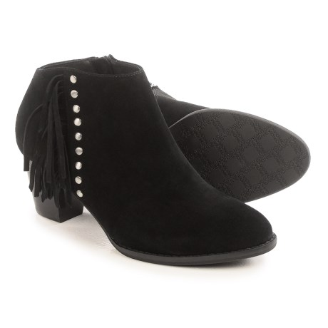 Vionic with Orthaheel Technology Faros Fringed Ankle Boots - Suede (For Women)