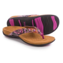 Vionic with Orthaheel Technology Floriana Sandals (For Women) in Pink Snake - Closeouts