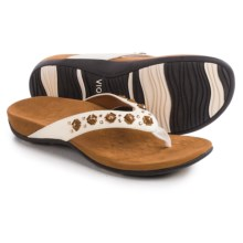 Vionic with Orthaheel Technology Floriana Sandals (For Women) in White - Closeouts