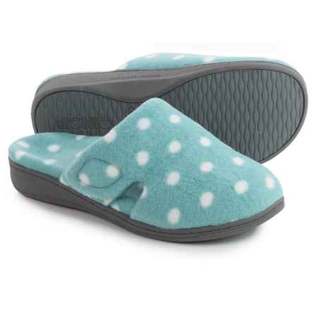 Vionic with Orthaheel Technology Gemma Slippers (For Women) in Blue Polka Dot - Closeouts