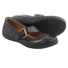 Vionic with Orthaheel Technology Goleta Mary Jane Shoes - Leather (For Women) in Black - Closeouts