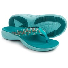 Vionic with Orthaheel Technology Hazel Flip-Flops (For Women) in Teal - Closeouts