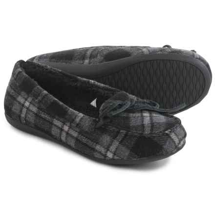 Vionic with Orthaheel Technology Ida Slippers (For Women) in Grey Plaid - Closeouts