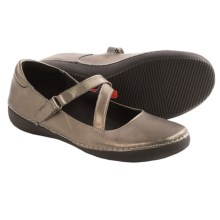 Vionic with Orthaheel Technology Judith Flats - Mary Janes, Leather (For Women) in Pewter - Closeouts
