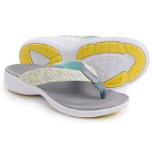 Vionic with Orthaheel Technology Kapel Sandals (For Women) in Grey/Yellow - Closeouts