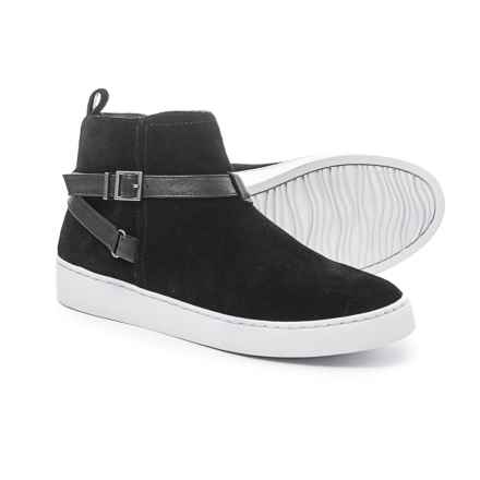 Vionic with Orthaheel Technology Mitzi Sneakers - Suede (For Women) in Black - Closeouts