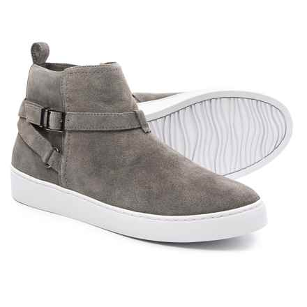 Vionic with Orthaheel Technology Mitzi Sneakers - Suede (For Women) in Grey - Closeouts