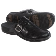 Vionic with Orthaheel Technology Rest Calgary Mules - Leather (For Women) in Black - Closeouts