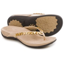 Vionic with Orthaheel Technology Sonali Sandals (For Women) in Champagne - Closeouts