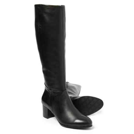 Vionic with Orthaheel Technology Tahlia Tall Boots- Leather (For Women) in Black - Closeouts