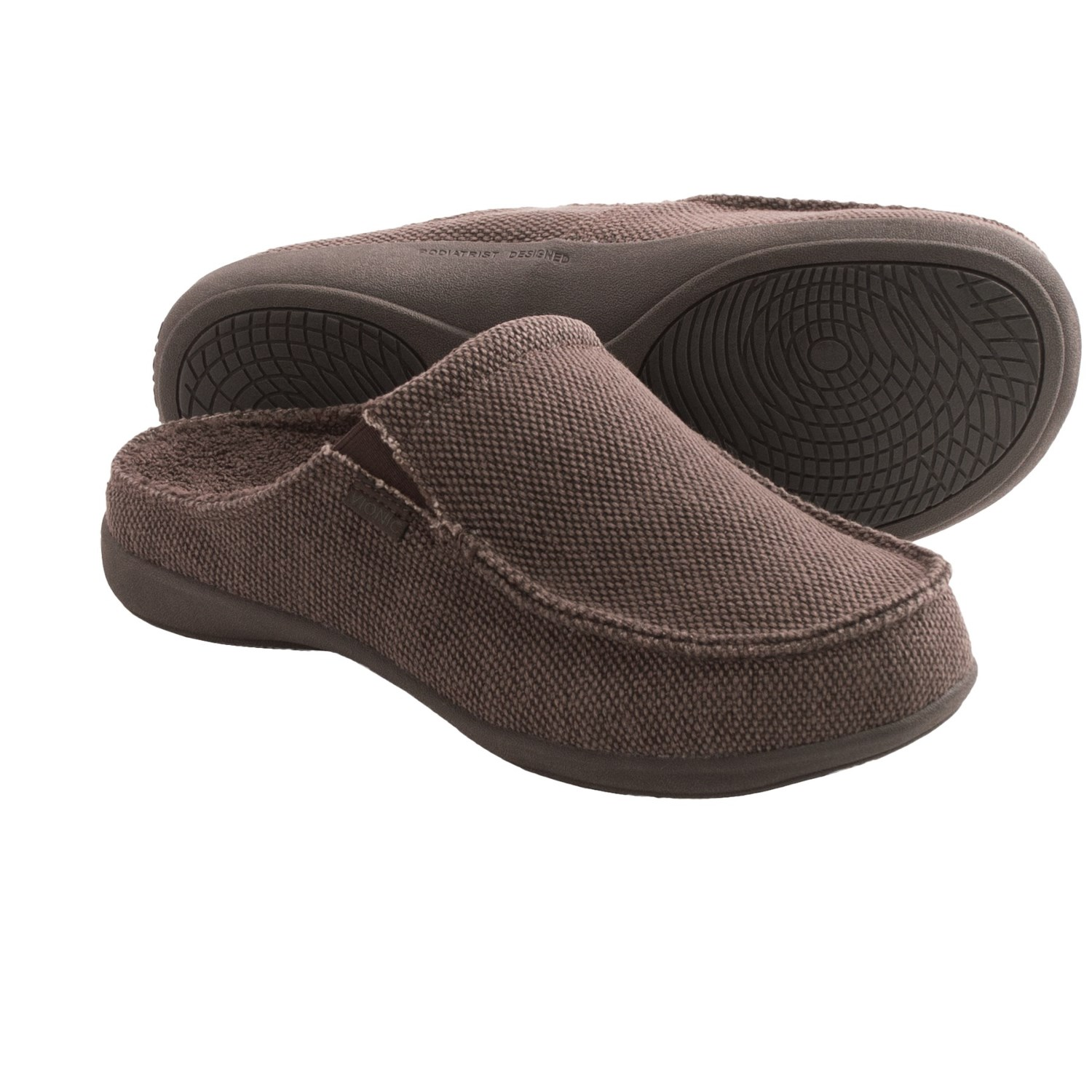 Designed with Vionic technology, these slippers are the perfect blend of plush comfort and sandal chic. If you prefer closed-toe shoes, cushy, moccasin-style slippers are a great choice for year round wear.