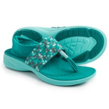 Vionic with Orthaheel Technology Tia Sling Sandals (For Women) in Teal - Closeouts
