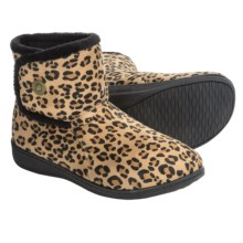 Vionic with Orthaheel Technology Vanah Boot Slippers (For Women) in Tan Leopard - Closeouts