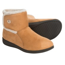 Vionic with Orthaheel Technology Vanah Boot Slippers (For Women) in Tan - Closeouts