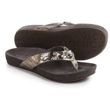 Vionic with Orthaheel Technology Verity Flip-Flops (For Women) in Pewter - Closeouts