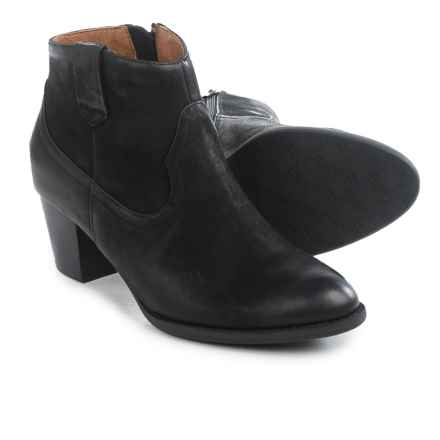Vionic with Orthaheel Technology Windom Ankle Boots - Leather (For Women) in Black - Closeouts